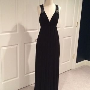 Black Macrame back and top of straps maxi dress